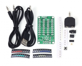 DIY Audio Spectrum Display Kit 8x4 Colorful SMD LED Soldering Practice Board Music Level Indicator Kit Learning Suite