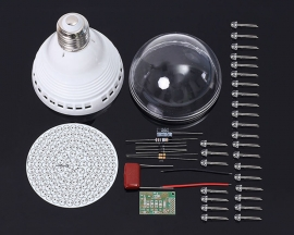 White LED Lamp Bulb PCB Light Board 120pcs LEDs Energy Saving Lamp DIY Kit Module AC 85V-277V with E27 Base