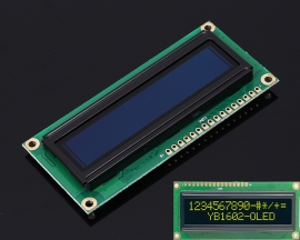 Yellow OLED Screen 1602 DC 3.3V-5V 16x2 Display Module for Arduino