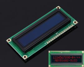 Red OLED Screen 1602 DC 3.3V-5V 16x2 Display Module for Arduino