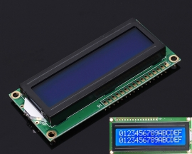 White LCD Screen 1602 DC 3.3V-5V Blue Background IIC SPI 16x2 Display Module for Arduino