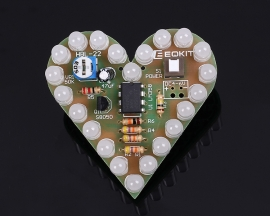 Green DIY Kit Heart Shape Breathing Lamp Kit Electronic Kit Module DC 4V-6V