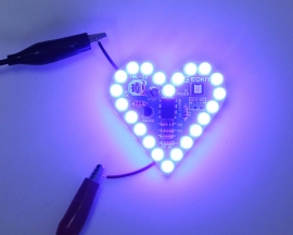 Blue Flashing LED DIY Kit Heart Shape Breathing Lamp Electronic Soldering Practice Kit DC 4V-6V
