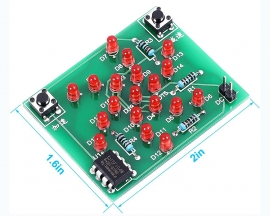 DIY Kit Electronic Windmill Shaped Red LED Flashing Light Lamp DC 5V Funny Kits for Soldering Practice