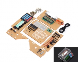 DIY Kit Electronic Scales 10kg 1g Pressure Sensor Price Scale USB Electronic Clock Module KIt with Transparent Shell