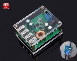DC-DC Step Down Module 4 USB Interface 5A Buck Converter Power Supply Module DC 9V/12V/24V/36V/48V/60V to DC 5V