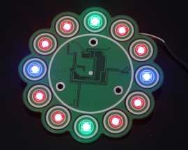 Capacitive Touch Button RGB Colorful LED Flow Lamp Module WS2812B TTP224 for Arduino AVR