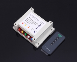 AC 220V WIFI Timing Delay Device 433MHz Wireless Control Module with 4Bit Button RF Remote Control