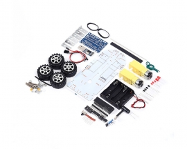 DIY Kit C51 Intelligent Vehicle Obstacle Avoidance Tracking Kit Intelligent Car DIY Smart Car Module