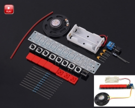 DIY Kit NE555 Electronic Component Parts Electric Piano Organ Module DIY Set with Battery Box