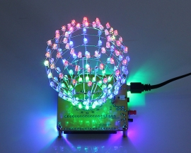 Colorful RGB Flashing DIY LED Cube Ball Light Spherical Spectrum Light Lamp with Remote Control for Home Decoration