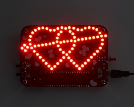 DIY Kits 3mm RED LED Double Heart-shaped Light with Music DIY Kit Creative Electronic Kit