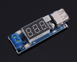 DC-DC Step Down Power Module 6V/6V/12V/15V/24V/36V to 5V Converter w/ Vehicle Voltmeter USB Charger