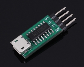 CH340C USB to TTL Converter Serial ISP Micro USB Download Module with DuPont Cable for C51 STM32