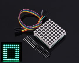 MAX7219 Green LED Display Module 8x8 8*8 Dot Matrix Module with Dupont Wire for Arduino