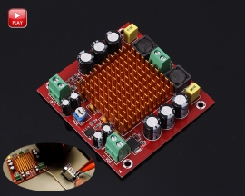 XH-M544 TPA3116DA 150W Mono Digital Amplifier Module Single Channel Digital Audio Amplifying Board Module DC 12-26V