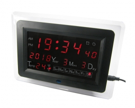 ECL-1227 Red LED Digital Display Date Temperature Display DIY Electronic Clock Electric Calendar Alarm DIY Kit with Shell