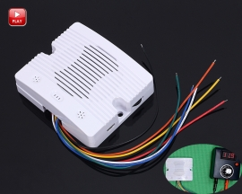 12V/24V 5Bits Voice Prompt Module 5 Message Doorway Digital Announcer 4M Music Player Module w/ White Shell Protection