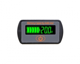 LCD Display Battery Capacity Indicator Voltage Tester 0%-100% Lead-acid Li-ion Battery Capacity Tester 7.4V/12V/24V