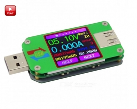 UM24 for APP USB 2.0 Color LCD Display Tester Voltmeter Ammeter Battery Capacity Tester Voltage Current Meter Cable Resistance Tester