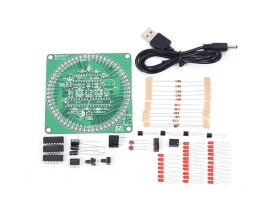 Red Countdown Timer 60s Rotary Electronic Clock DIY Kit 60s Rotate Seconds Count Smart Timing Alarm Teaching DIY Kits