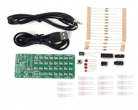 ASD-84 Audio Spectrum Display 8x4 DIY Kit Music Level Indicator Voice Spectrum Lights Learning Suite