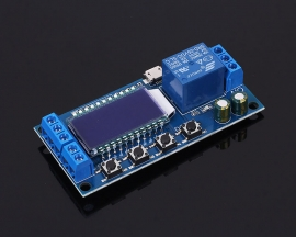 Micro USB Digital LCD Display Time Delay Relay Module 6-30V Control Timer Switch Trigger Cycle Module