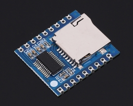 Mini MP3 Player Module Audio Voice Board 8Bit I/O UART Contorl Support SD Card TF Card