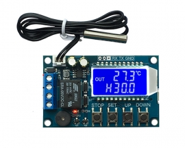 Digital Temperature Controller Switch Module Micro Digital Thermostat Board LCD Display with NTC Waterproof Sensor Probe