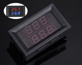Dual Digital LED Display Thermometer K-type Thermocouple High Temperature Tester Display