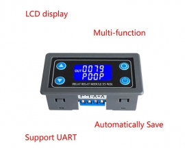 Time Delay Relay Module Digital LCD Display 6-30V Control Timer Switch Trigger Cycle Module for Smart Control