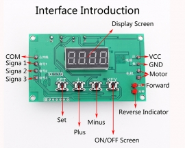 DC Motor Drive Module 120W Auto Governor Timing Delay Controller Board Display 7V-24V Forward Reverse Control