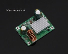 DC Step Down Module Power Supply Buck Converter Non-isolated Stabilizer 9V 12V 24V 36V 48V 72V 120V to 5V 3A