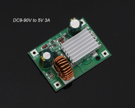 DC Step Down Module Power Supply Non-isolated Buck Converter Board 9V 12V 24V 36V 48V 72V to 5V 3A