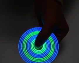 DIY Kit Blue+Green Rotating LED Electronic Kit 24kind Beautiful Pattern