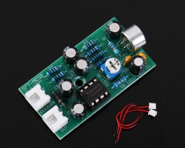 DC 9V-15V Adjustable Audio Monitoring Capacitive Microphone Amplifier Board MIC Auto Gain Control Voice Module