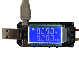 DC-DC LCD USB Step UP/Down Power Supply Module Adjustable Boost Buck Converter Voltmeter Ammeter Battery Capacity Tester Temperature Display
