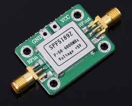 LNA 50-4000 MHz RF Low Noise Amplifier Signal Receiver SPF5189 NF 0.6dB with Shielding shell