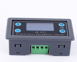 DC 5V-38V Multi-function Meter LCD Voltmeter Ammeter Battery Capacity Tester Power Tester Discharge Timer Temperature Display