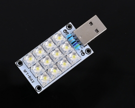 DC 5V USB Lamp 12-LED Super Bright White Piranha LED Board Light Lamp