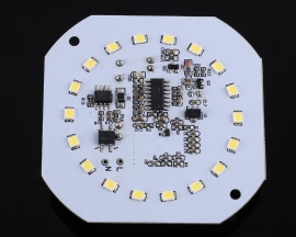 AC 220V Microwave Radar Sensor Module 9W White LED Lamp Intelligent Control for Aisle Corridor