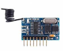 433MHz DC 3.3V-5.5V Wireless Learning Control Module Self-locking Inching Interlocking Superheterodyne Receiver