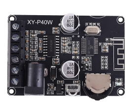 XY-P40W Dual Channel Stereo Bluetooth Power Amplifier Board 5V 12V 24V 20W 30W 40W Infrared Remote Control Receiver Module Audio module with Case