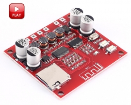 XH-A233 DC 12V-24V Wireless Bluetooth Receiver Power Amplifier Board V4.2 Dual Channel Voice Audio Module 15W+15W Support TF Card