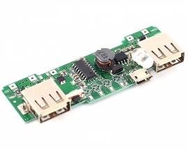 Dual USB Mobile Display Power Boost Module 5V 2A Charger Step UP Module Solar Charging Circuit