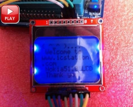 84*48 Nokia 5110 LCD Module with Blue Backlight Adapter PCB