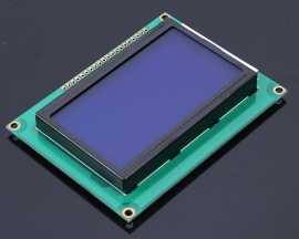 128X64 Dot Graphic Matrix LCD Module Display LCM Blue Backlight