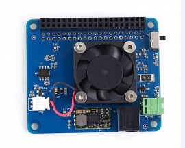 DC 6V-14V Fan Power Supply Breakout Board HAT POE for Raspberry Pi 3B+/3B/2B/B+