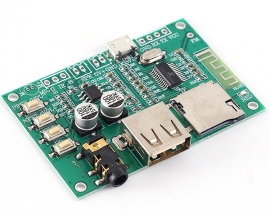 BT-201 3W MP3 Bluetooth Digital Power Amplifier Module SPP Pass-Through MCU Transmission Module Support FM TF Card/U-Disk