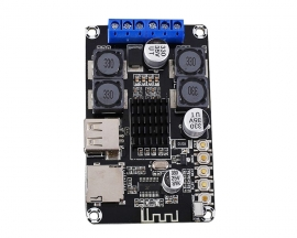 Stereo Bluetooth Power Amplifier Board 50W+50W 12V 24V Bluetooth Receiver Module Support TF Card U-Disk